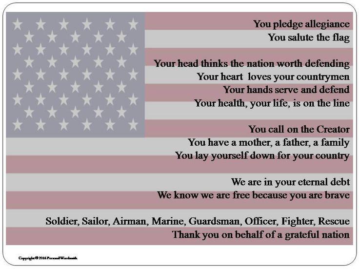 Memorial Day Appreciation Digital Print, Download Veteran's Poem, Memorial Poem for Military Service, Veteran's Digital Download Poem Photo by PersonalWordsmith on Etsy