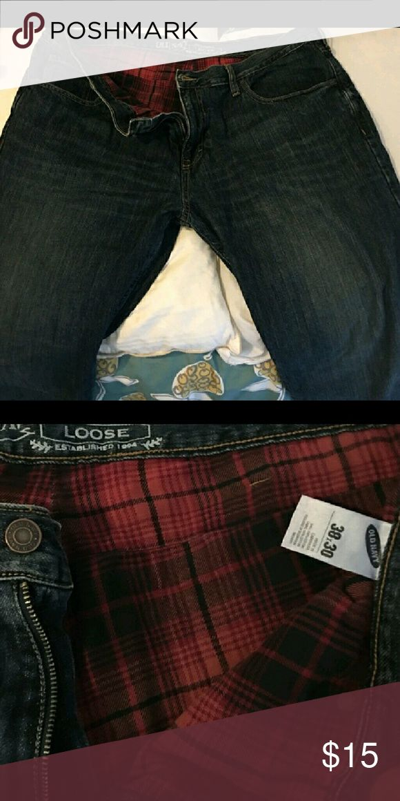 Flannel Lined Jeans Pre conditioned men's flannel Lined jeans. Warm and comfy. Old Navy Jeans Relaxed