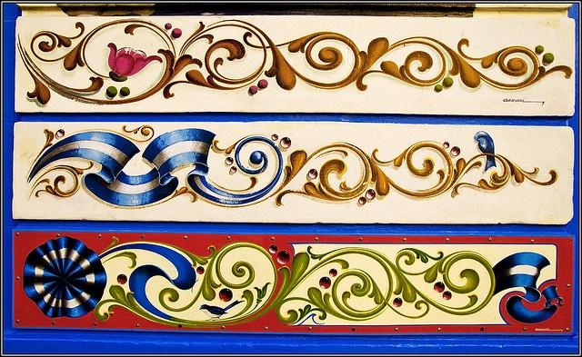 Fileteado porteño by jim snapper, via Flickr