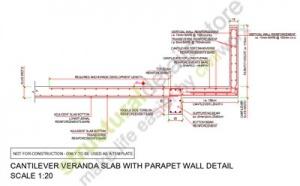 Reinforced Concrete Veranda Cantilever Slab With A