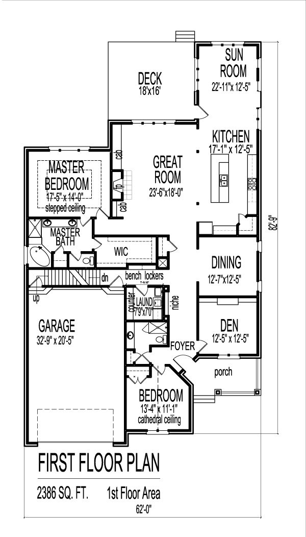 1 Story 2 Bedroom House Plans House Floor Plans Bedroom House Plans Four Bedroom House Plans