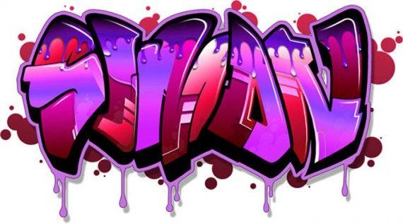 "Graffiti Bubbles Background Graffiti bubble letter ""simon"""