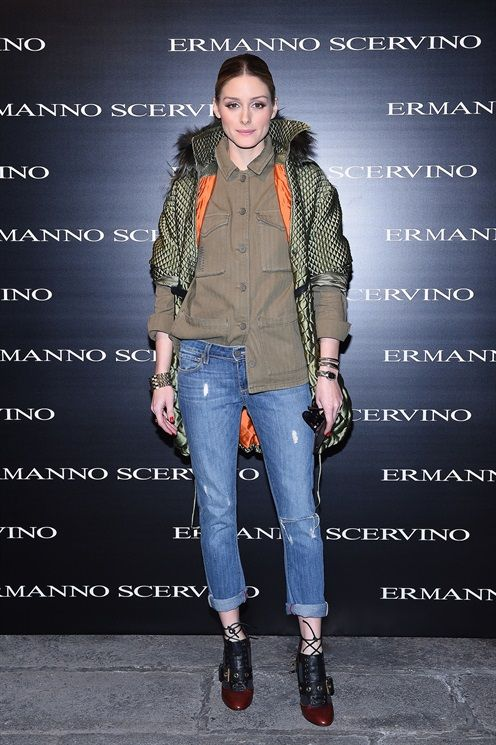 Olivia Palermo at the Ermanno Scervino Fall 2017 Show - Front Row - February 25, 2017 #MFW #FW17