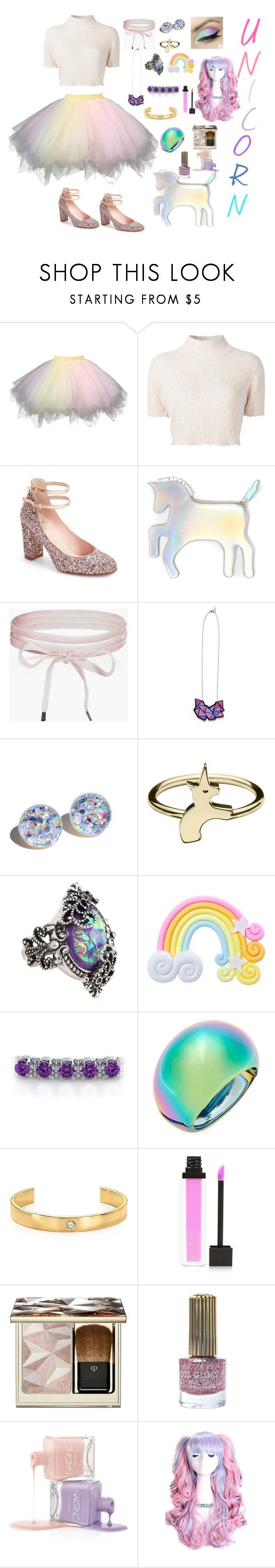 """""""Halloween/ Day of Death"""" by rebeca-frausto on Polyvore featuring Rachel Comey, Kate Spade, WithChic, Boohoo, Rad+Refined, Diane Von Furstenberg, Jules Smith, Jouer, Clé de Peau Beauté y Floss Gloss"""