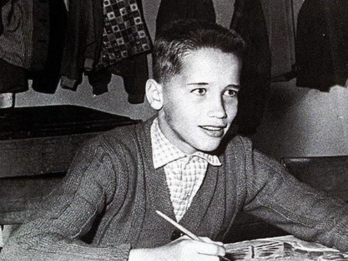Arnold Schwarzenegger as a Teen. #BW #People