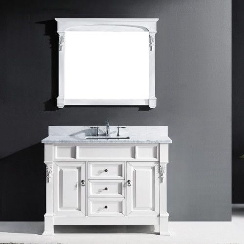 Web Image Gallery Found it at Wayfair Huntshire Single Bathroom Vanity Set with Mirror