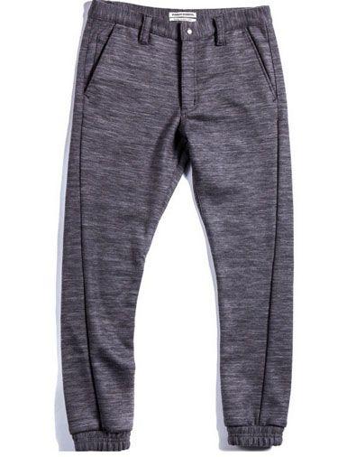 Now Trending: Luxe Men's Sweatpants. Public School Heather-Gray Slub Lounge Pants