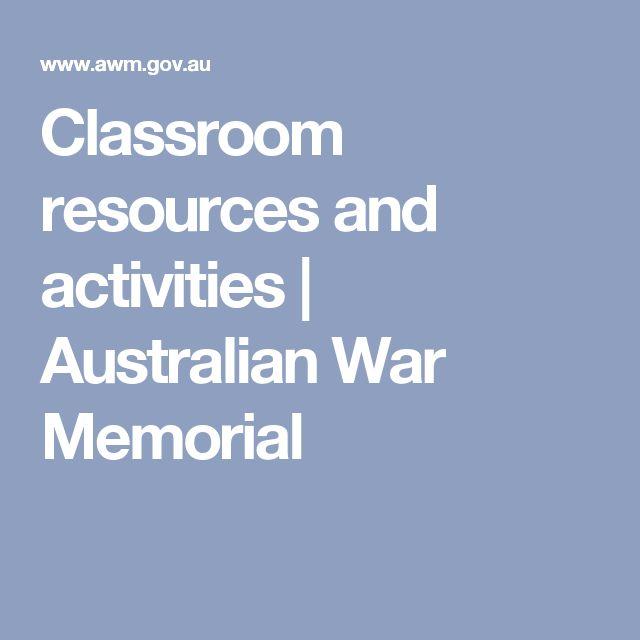 Classroom resources and activities | Australian War Memorial