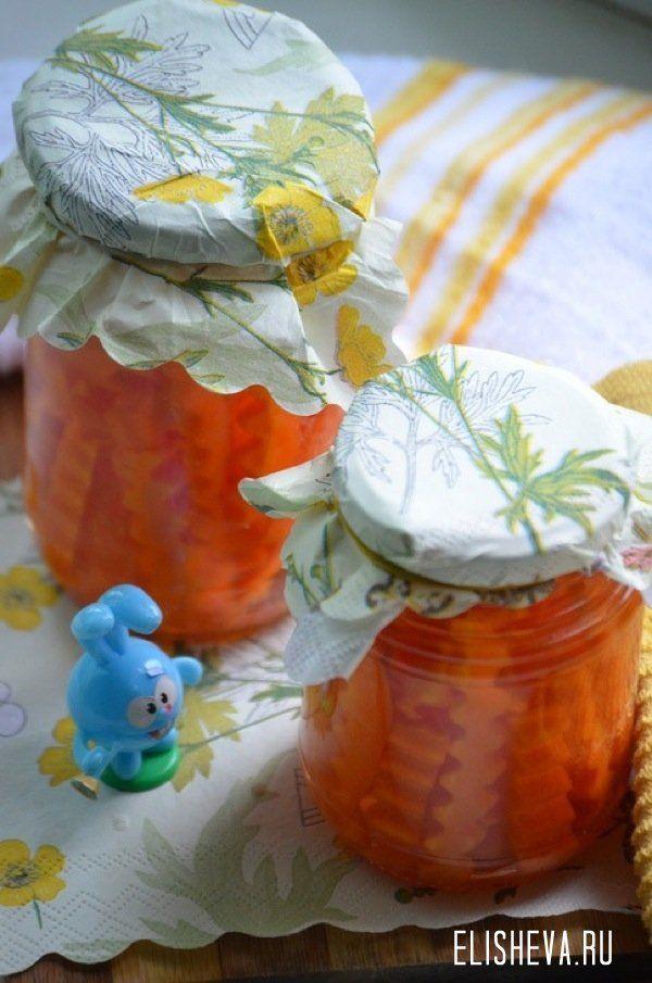 Маринованная морковь для украшения. Пошаговый рецепт c фото