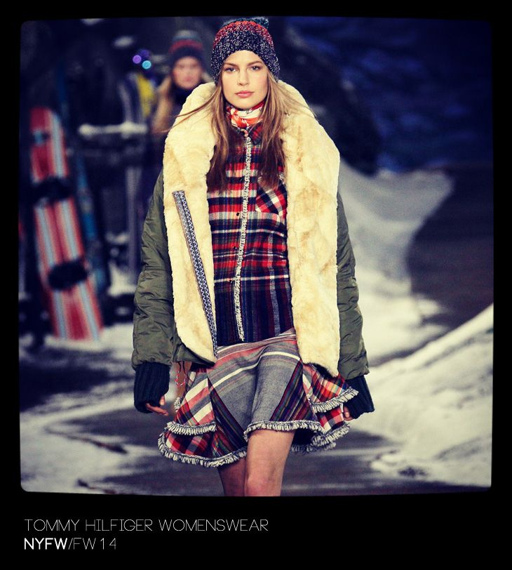 Tommy Hilfiger Womenswear Fall Winter 2014 - Warm and plaid look for Winter