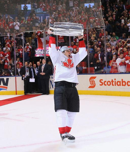 Sidney Crosby Photos Photos - Sidney Crosby #87 of Team Canada celebrates after a 2-1 victory over Team Europe during Game Two of the World Cup of Hockey final series at the Air Canada Centre on September 29, 2016 in Toronto, Canada. - World Cup of Hockey 2016 Final - Game Two - Canada v Europe