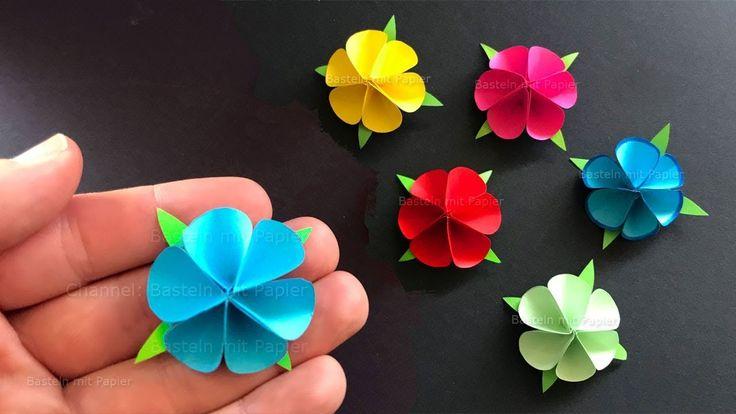 Basteln mit Papier: Blume als Geschenk selber machen 🌸 Origami