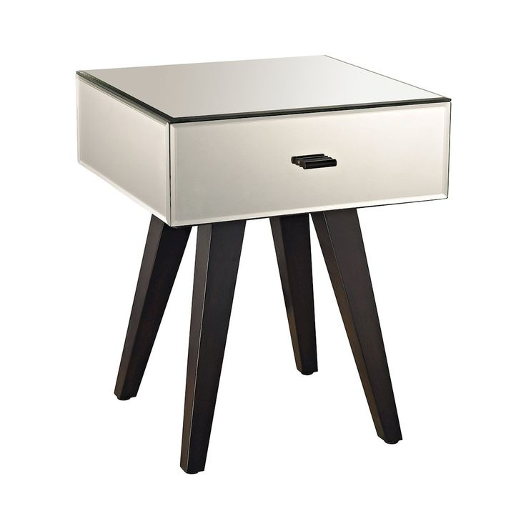 Modern Mirror Leg Side Table by Dimond Home