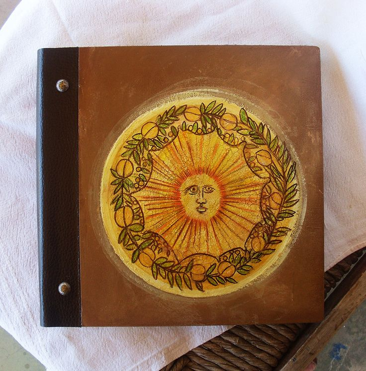 Photo Books, Photobook, Photo Album, Photo Album Book, Wooden Photo Album, Totally Handmade Album, Decorated Sun by allabouthandicraft on Etsy