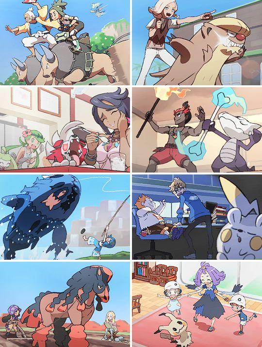 Pokémon Sun and Moon end credits #nintendo #pokemon #fanart