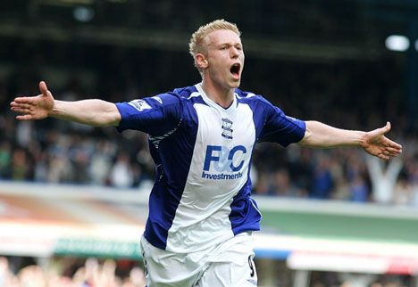 Mikael Forssell, Birmingham v Spurs 1st March 2008.