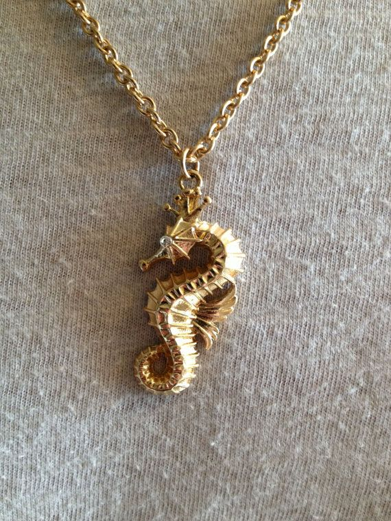 20 best seahorse images on pinterest seahorses jewel box and gold seahorse necklace aloadofball Gallery