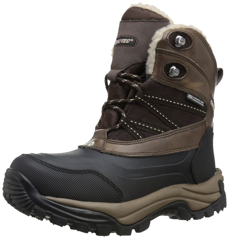 Hi-Tec Women's WN SN Peak 200 WP Snow Boot, Chocolate/Snow, 8 M US. Multi directional traction outsole. Waterproof and breathable. 200g thinsulate insulation. Steel shank for stability and support. Removable molded ethylene vinyl acetate footbed.