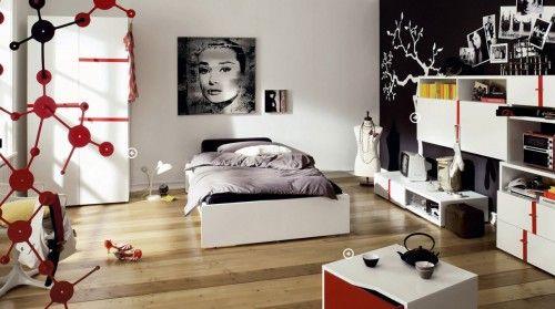 Black White Cool and Trendy Teen Room Design Ideas | Home Design, Interior Decorating, Bedroom Ideas - Getitcut.com