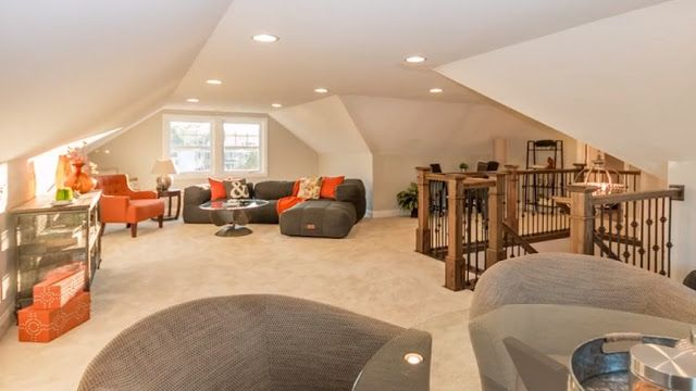 Attic Loft Area See More Rec Room Design Ideas Loft Design Rec Room Room Design