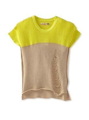 69% OFF Vintage Havana Girl's Color Block Sweater (Yellow/Tank)