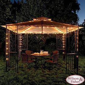 Wilson & Fisher® Gazebo Light Set, 140-Count http://gazebokings.com/cheap-outdoor-gazebo-lights/