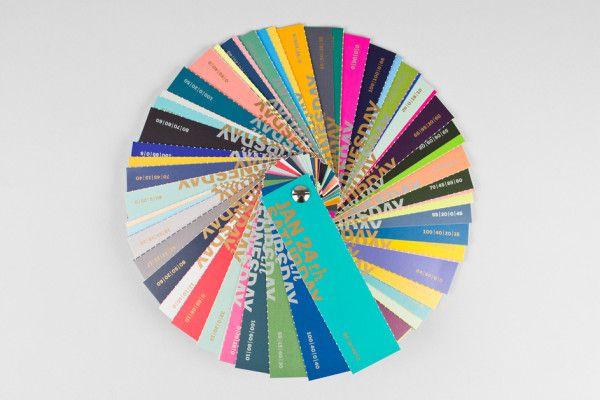 C M Y K Color Swatch Calendar 2015