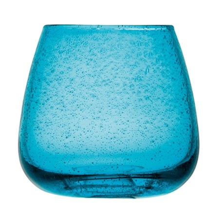 This LSA Aero 12cm Vase in turquoise would look stunning in any room. The bold colour complements the fashionable design - the molten glass is rolled in salts which react with the glass to create thousands of bubbles on each piece! #beautiful