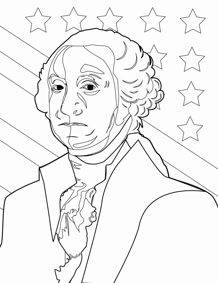 George Washington Coloring Page Unique George Washington ...