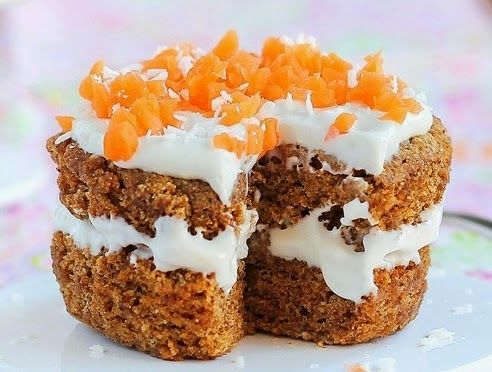 One Minute Carrot Cake