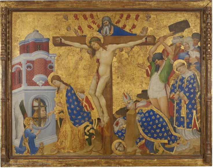 Henri BELLECHOSE (documented in Dijon from 1415 to 1444)  The Martyrdom of Saint Denis  1415-16  H. 1.62 m; W. 2.11 m  Gift of Frédéric Reiset, 1863  | Louvre Museum | Paris