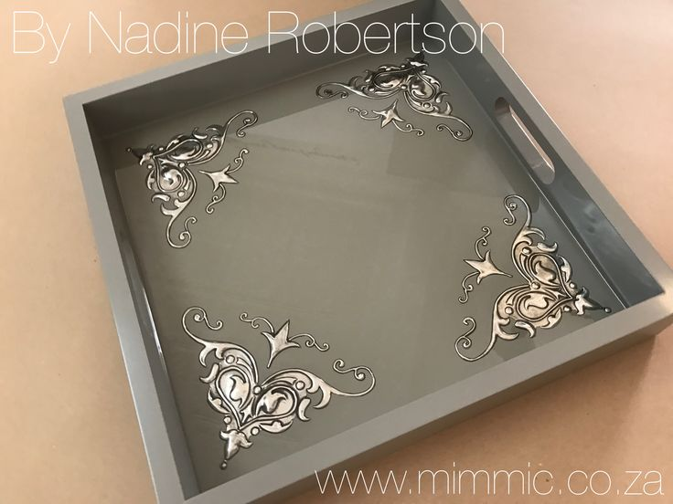 Nadine from our wedensday class created this stunning tray at Mimmic Gallery and Studio. www.mimmic.co.za