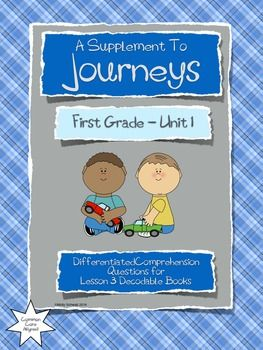 This packet contains differentiated questions for the decodable books in  Lesson 3 of the Houghton Mifflin Harcourt Journeys First Grade Reading  Series.