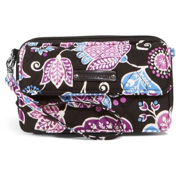 Vera Bradley All in One Crossbody and Wristlet for iPhone 6+ in Alpine... ($54) ❤ liked on Polyvore featuring bags, handbags, shoulder bags, alpine floral, wristlet crossbody, floral shoulder bag, vera bradley crossbody, crossbody purse and shoulder strap handbags