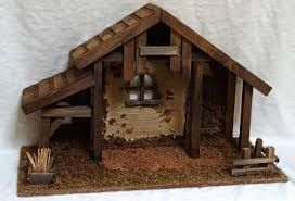 wooden nativity stable - Google Search