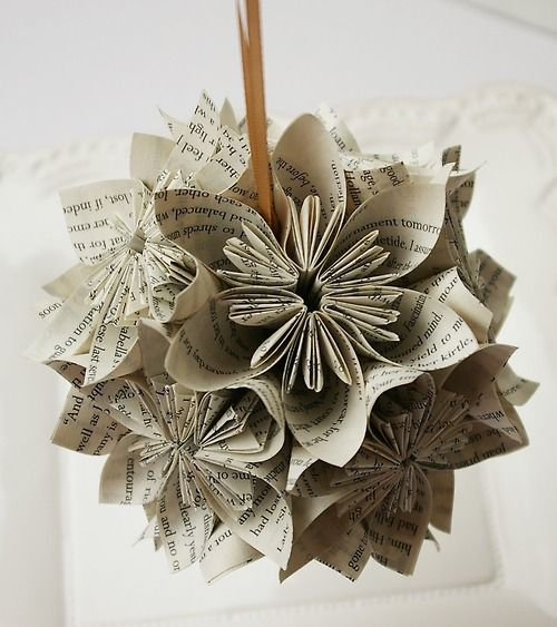 tutorial for these lovely paper Christmas tree ornaments