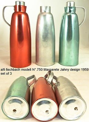 alfi fischbach DDR margarete jahny N°750 alu 3 thermos kanne Isol jug p-bauhaus | eBay