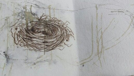 Printed nest for a series of books Jackie Carter  Textile Artist