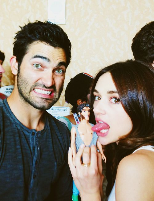 Tyler Hoechlin and Crystal Reed