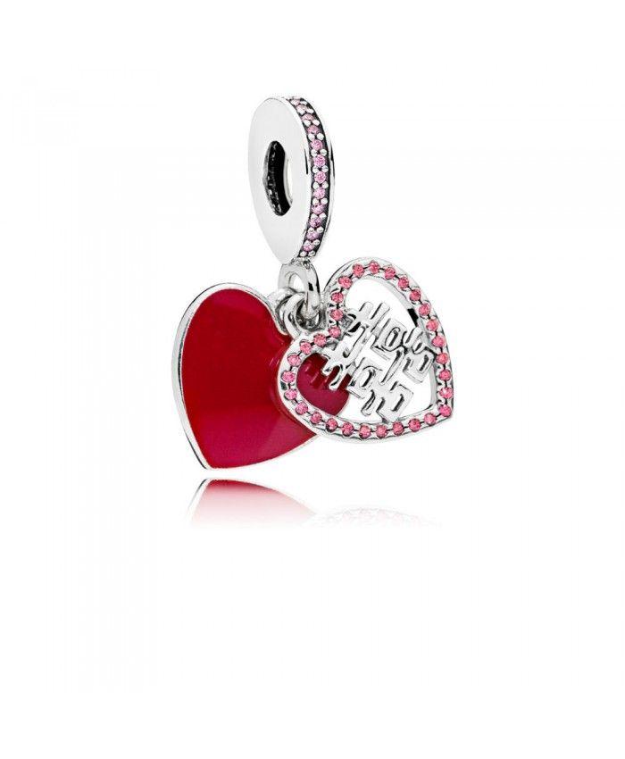 Pandora Double Happiness Heart Hanging Charm Sale | Pandora charms ...