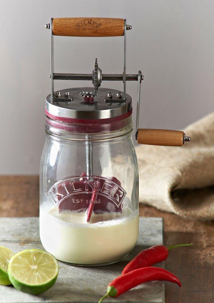 Kilner Manual Glass Butter Churner