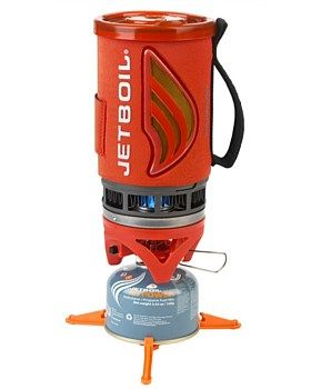 The Jetboil Flash steps up from the Zip with a push-button igniter, heat indicator, and increased volume. This system lights with the click of a button and in just over 2 minutes provides two cups of boiling water for cocoa, coffee, instant soup or a gourmet freeze-dried meal. Buy Now: http://www.outsidesports.co.nz/Gear/Hiking_&_Camping/Cooking/CNALFLASH-TOM/Jetboil-Flash-cooking-system-Tomato.html#.VLx-HLSuqyI