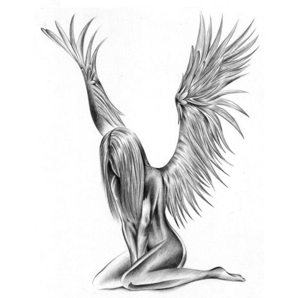 Angel Tattoo Meaning, Ideas and Images Gallery ❤ liked on Polyvore featuring accessories and draw