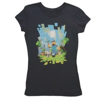 This is a cool minecraft shirt!