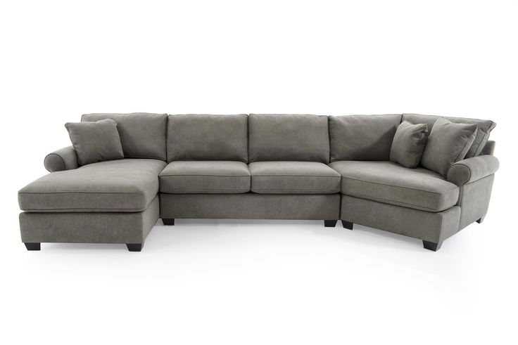 Jessica casual three piece sectional sofa with cuddler by