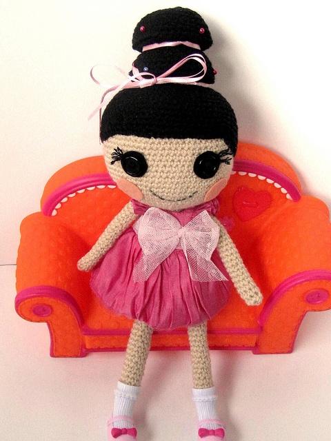 Free Crochet Pattern For Lalaloopsy Hat : Hana Hairspray Lalaloopsy crocheted Lalaloopsy ...