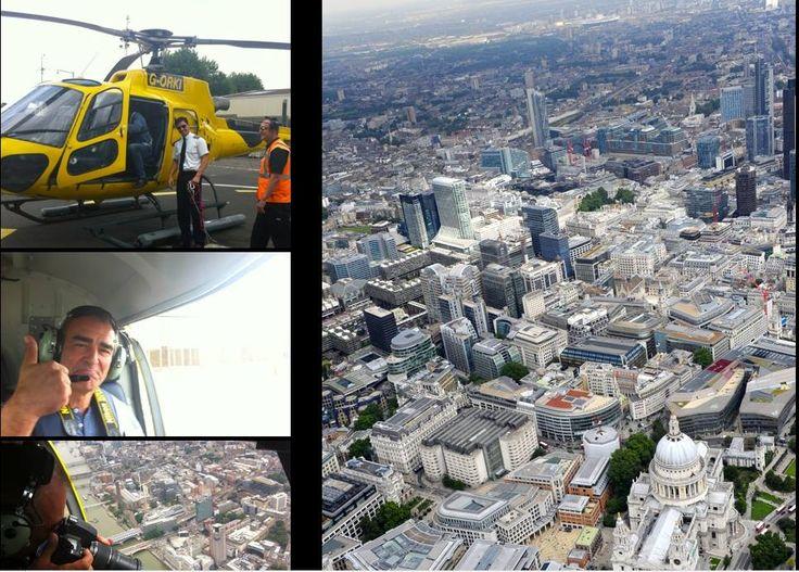 Repérages de Philippe Francq en hélicoptère pour le tome 19 de Largo Winch