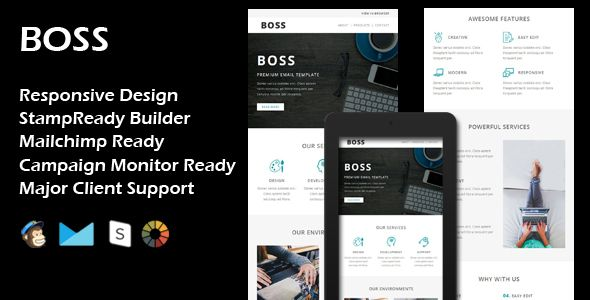BOSS - Multipurpose Responsive Email Template + Stamp Ready Builder #Agency, #Business, #CampaignMonitor, #Corporate, #Creative, #Email, #Evethemes, #MailChimp, #Modern, #Multipurpose, #Newsletter, #Office, #Responsive, #Simple, #Stampready, #Template https://goo.gl/Wj5rtT