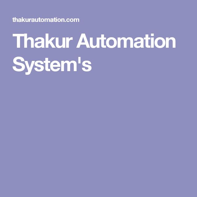 Thakur Automation System's