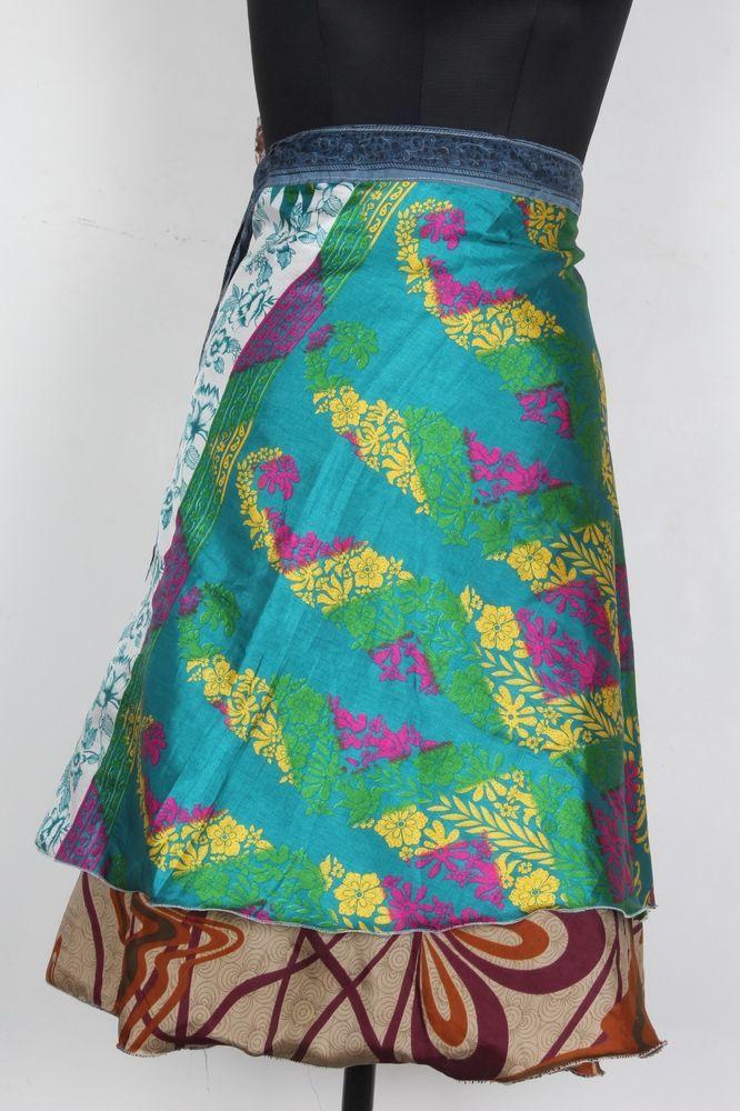 Lot Cotton Mini Skirt Animal Print Wrap Around Sarong Skirt